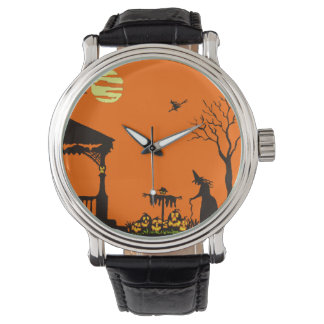 Halloween,adult,watch,silhouette,witch,haunted Watch