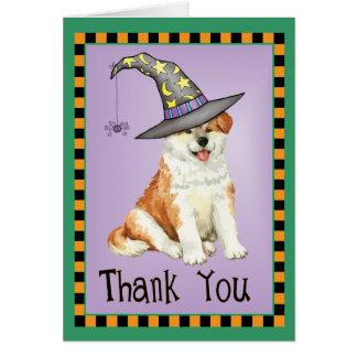Halloween Akita Card