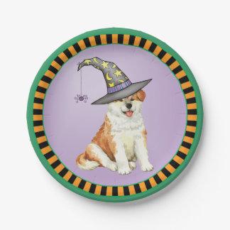 Halloween Akita Paper Plate