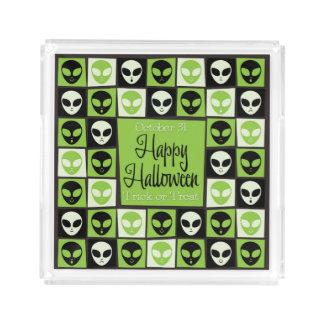Halloween alien mosaic