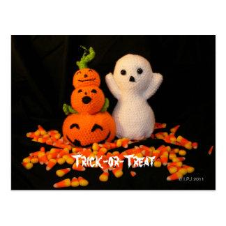 Halloween Amigurumi Post Card