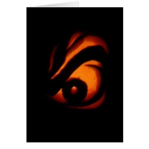 Halloween Angry Eye Greeting Card #2