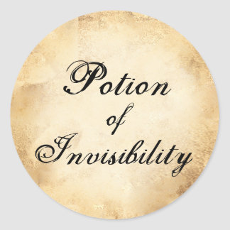 Halloween apothecary invisibility potion label