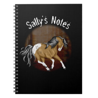 Halloween Appaloosa Horse Personalized Notebook
