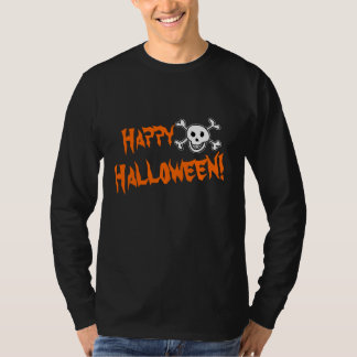 Halloween apparel for men | skull and bones T-Shirt