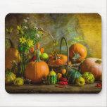 Halloween Autumn Fall Pumpkin Setting Table Mouse Pad