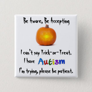 Halloween Awareness Pin