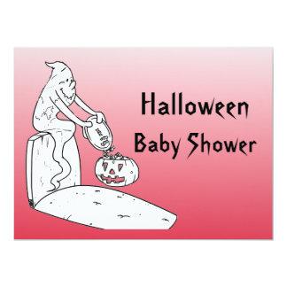 halloween baby shower ghost invitations red 6 5 x invitati