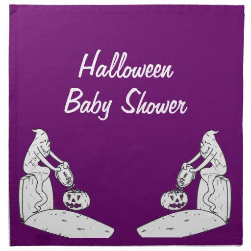 Halloween Baby Shower Ghost Napkins