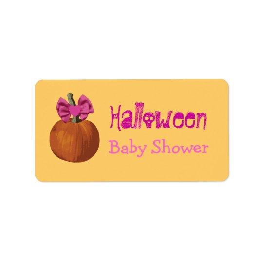 Halloween Baby Shower Label
