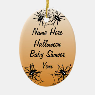 Halloween Baby Shower Oval Ornaments - Orange