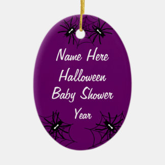 Halloween Baby Shower Oval Ornaments  - Purple