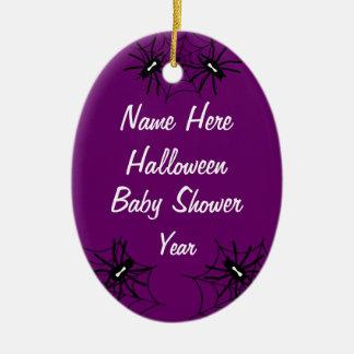 Halloween Baby Shower Oval Ornaments  - Purple
