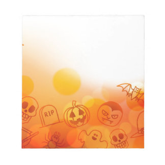 Halloween Background Notepad