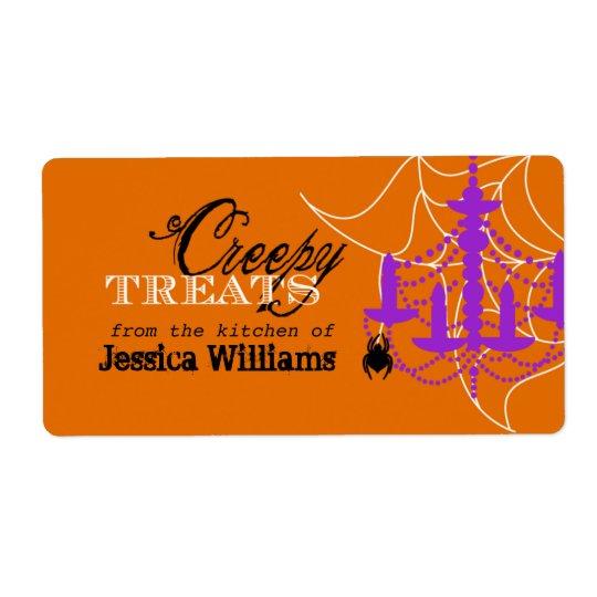 Halloween Baking Labels