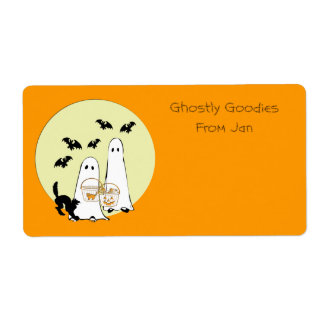 Halloween Baking or Drink mix Labels ghostly good