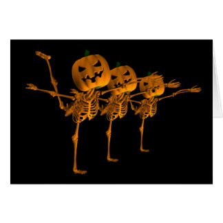 Halloween Ballet  Skeleton Dancers Card