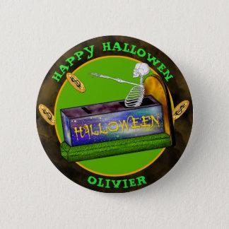 HALLOWEEN BANK CARTOON  Standard, 2¼ Inch 6 Cm Round Badge