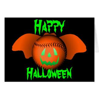 Halloween Baseball Bat Card