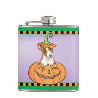 Halloween Basenji Hip Flask