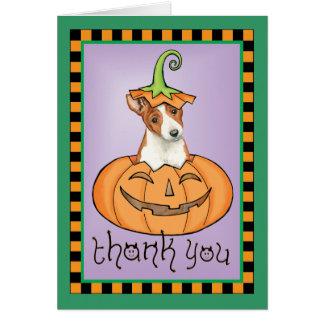 Halloween Basenji Thank You Card