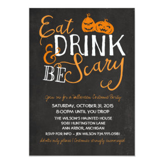 Halloween Bash, Costume Party, Adult Party Card