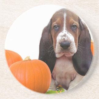 Halloween Basset Hound Coasters