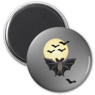Halloween Bat 6 Cm Round Magnet