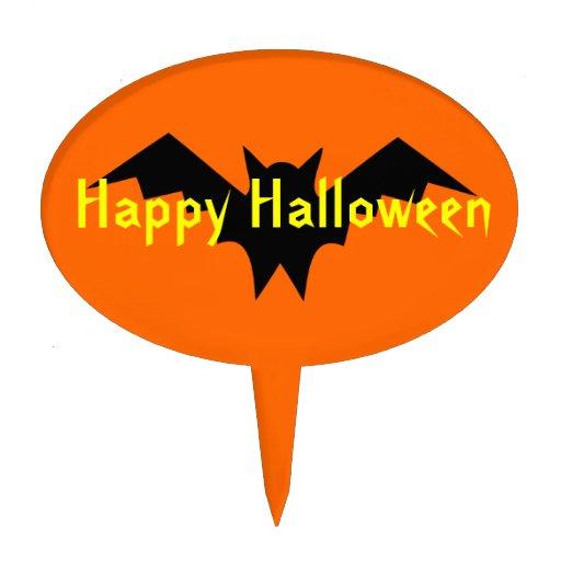 Halloween Bat Cake Toppers