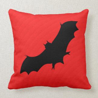 Halloween bat in red cushion