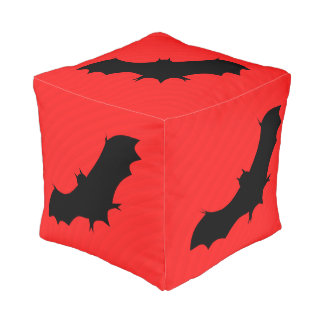 Halloween bat in red pouf