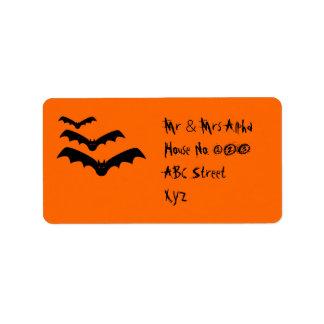 Halloween Bat Label Address Label