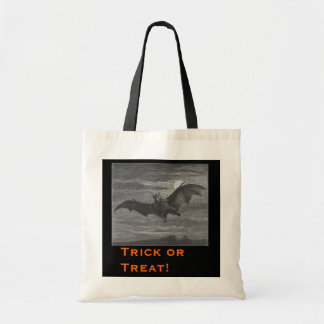 Halloween Bat Lithograph Tote Bags