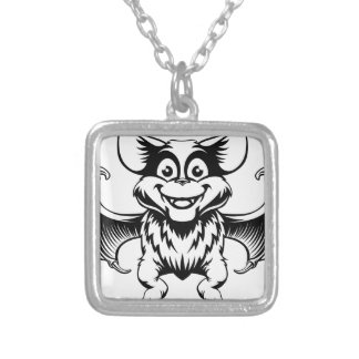 Halloween Bat Silver Plated Necklace