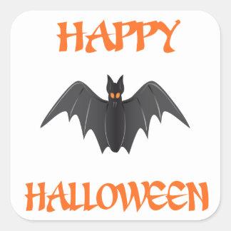 Halloween Bat Square Sticker