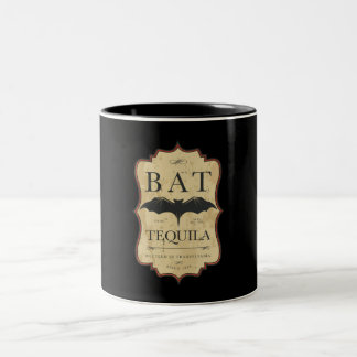 Halloween Bat Vintage Label Coffee Mug