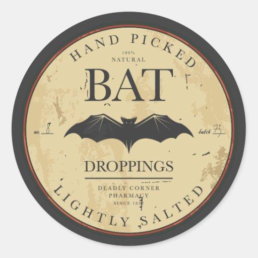 Halloween Bat Vintage Label Stickers
