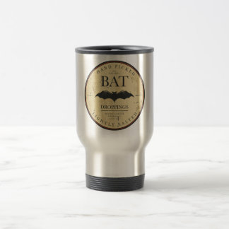 Halloween Bat Vintage Label Travel Mug