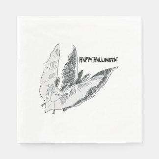 Halloween Bat, White Standard Luncheon Napkin Disposable Napkins