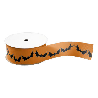 Halloween Bats Grosgrain Ribbon