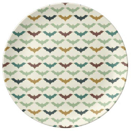 Halloween Bats Porcelain Plate