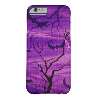 Halloween Bats on Purple Night phone case