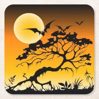 Halloween Bats Paper Coaster Square Paper Coaster