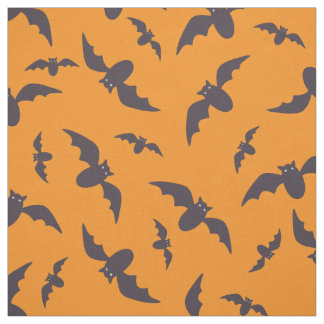 Halloween bats pattern fabric