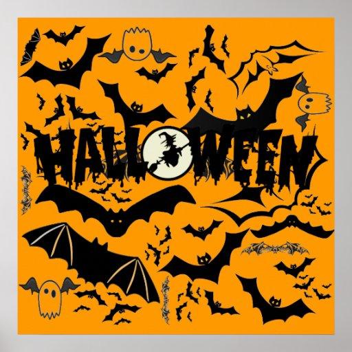 Halloween Bats Posters
