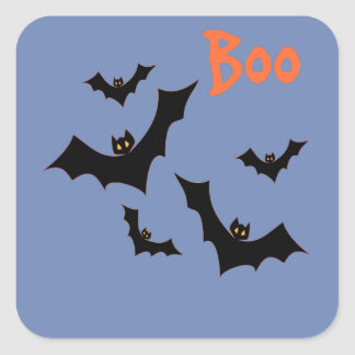 Halloween Bats Prizes Square Sticker