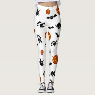 Halloween Bats, Pumpkins and Witches Leggings