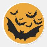 Halloween Bats Round Sticker