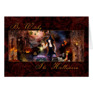 Halloween - Be Witchy - Blank Card