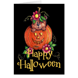 Halloween Bear Greeting Card